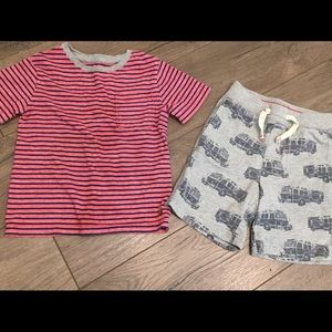 2PC GAP Pocket Tee & Drawstring Firetruck Short 4T